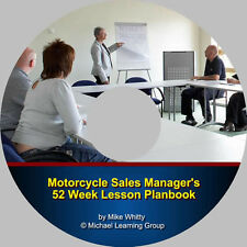 Motorcycle Sales Training - Motorcycle Sales Manager's 52 Week Lesson Planbook