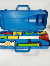 Fisher Price Crazy Combo Horn Set Vintage 1984 * kazoo part and red hornbdamaged