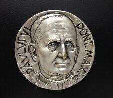 Italy / 1964 Italian Pope Paul VI Silver-Plated Bronze Medal / RARE / M 59