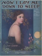 Now I Lay Me Down To Sleep Jean Granese Photo 1920 vintage sheet music
