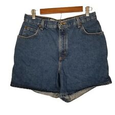 Zena Missy Size 14 Dark Wash Vintage High Rise Denim Shorts Mom Jeans