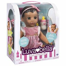 Brand New LUVABELLA Interactive Baby Girl Doll BRUNETTE HAIR by Spin Master
