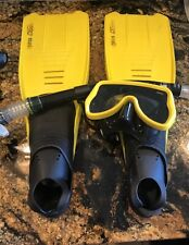 USED  Mares CLIPPER  Swimming Fins  Also mask & Snorkel Included  5.5 To 6.5