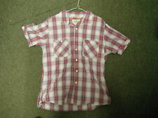 Soulcal Co Large Mens Checked Red & Blue Casual Short Sleeve Dress Shirt