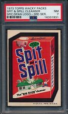 1973 Topps Wacky Packages SPIT & SPILL SPIC SPAN LOGO 3rd Series Tan Back PSA 7