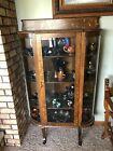 Tiger Oak Antique curio cabinet - 1900-1915 era- fantastic condition
