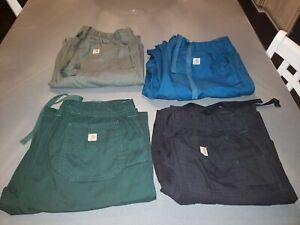 4 Carhartt Scrub Cargo Work Pants Black Men's Sz M Comfort Waist Ripstop Pockets