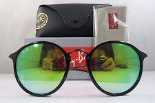 Ray-Ban RB 2447 901/4J Round Shiny Black New Authentic Sunglasses 52mm w/Box