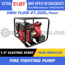 """1.5"""" Water Transfer Pump Twin Impeller Fire Fighting High Flow Electric Start"""