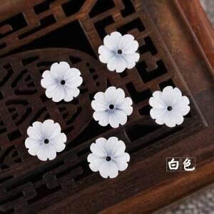 10mm 50pcs Resin Five-petaled Flowers Loose Spacer Beads Jewelry Findings DIY