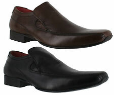 Red Tape Slip Ons Round 100% Leather Formal Shoes for Men