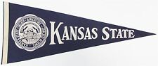 """Vintage 1960's Kansas State Wildcats 30"""" Pennant Excellent 21082"""