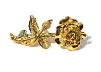 Bijou alliage doré broche intemporelle jolie fleur  brooch