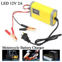 Caricabatterie Mantenitore Batteria Smart Auto/Moto 12V 2A Avviatore
