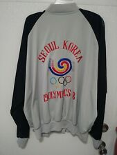 VTG 1988 Seoul Grey And Black Zip Up Jacket XL