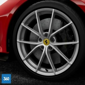"NEW GENUINE FERRARI 488 PISTA 20"" MATT SILVER ARGENTO NURBURGRING ALLOYS WHEELS"