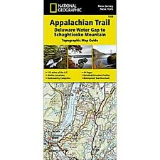 National Geographic Appalachian Trail Map NJ NY DE Water Gap-Schaghticoke 1508