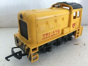 TRIANG TR R353 DIESEL DOCK AUTHORITY YELLOW SHUNTER & LIGHT tension coup