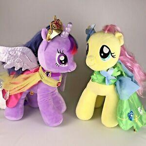 Build A Bear My Little Pony Plush Lot TWILIGHT SPARKLE + FLUTTERSHY w/ Capes