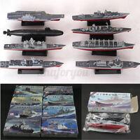 8PCS/Set 4D Assembled Battleship Aircraft Carrier Submarine Warship Model Kit