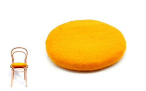 35 CM Felted Chair Pad - Handmade Chair Pad - Felted Cushion - Gifts -From Nepal