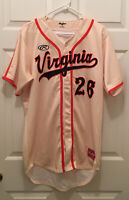 Virginia UVA Cavaliers Hoos Baseball Brian O'Connor #26 Logo Game Worn Jersey