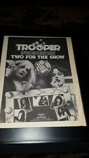 Trooper Two For The Show Rare Original Promo Poster Ad Framed! #2