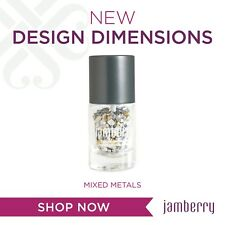 Jamberry Design Dimensions - Mixed Metals - New - 3D Nail Art - Free Ship