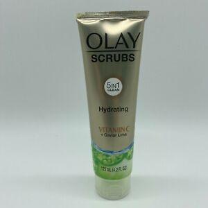 OLAY Scrubs Detoxifying Face Scrub with Vitamin C & Caviar Lime 4.2 Fl Oz New