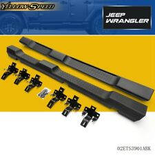 For 07-16 Jeep Wrangler JK 4 Door ABS Plastic Side Step Nerf Bars Running Boards