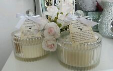 PERSONALISED WEDDING CANDLES BOMBONIERE FAVOURS VINTAGE GLASS JAR SOY WAX