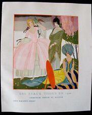 Brunelleschi Les Beaux tissus en 1922 Bianchini Férier  Charmeuse peplum Sultana