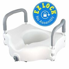 MDS - Raised Toilet Seat Portable Elevated Riser Padded Handles Bathroom Safety