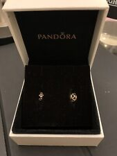 PANDORA 14k Gold Intertwined Charm, 750452 & Flower Spacer 759461
