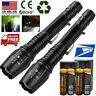 Tactical Police 990000Lumens T6 LED Flashlight Torch 5 Modes 18650 Aluminum Zoom