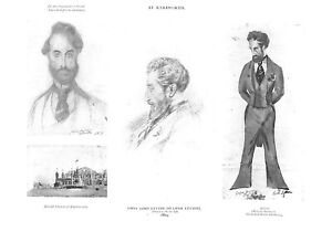 Leslie Ward.1915.Knebworth.First Lord Lytton.Caricature.Menswear.Tailoring.Old