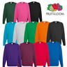 Fruit Of The Loom MEN'S RAGLAN SWEAT SWEATSHIRT JUMPER PLAIN PULLOVER CASUAL NEW