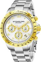 Stuhrling Men's Japanase Quartz Chronograph Stainless Steel Bracelet Watch 665B