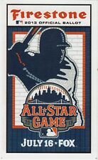2013 MLB MLB ALL-STAR GAME UNUSED FAN BALLOT - GAME @ NEW YORK METS CITI FIELD