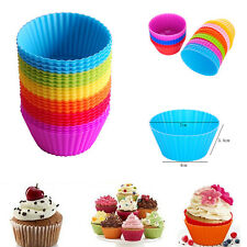 12pcs Mini Chocalate Silicone Liners Baking Cupcake Cases Muffin Cake Mold Tools