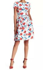 NWT Oscar De La Renta Luxury Floral Print Short Sleeve Dress (orig$1690) Size 6