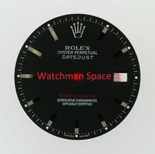 Original Men's Rolex Datejust Turn-O-Graph 116264 Gloss Black Stick Dial SS #A39
