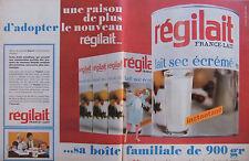 PUBLICITÉ DE PRESSE 1966 REGILAIT FRANCE-LAIT LAIT SEC ÉCRÉMÉ - ADVERTISING