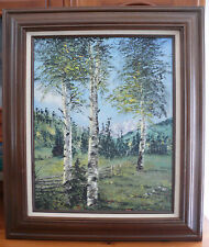 Artist Harriet Parks Oil Painting Crow Creek Grey's River Country Alpine Wyoming