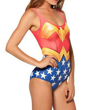 WONDER WOMAN One Piece Swimwear Swimsuit - Character Costume Outfit 40852