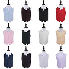 DQT Premium Swirl Patterned Page Boy Vest Wedding Boys Waistcoat for 2 to 14 Yrs