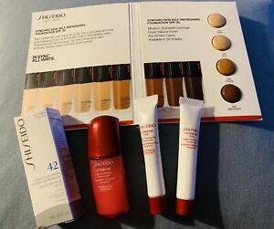Shiseido Lot 2 Eye Concentrate、infusing concentrate、UV protector、foundation card