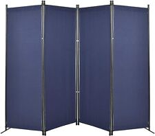 4 Panel Partition Room Dividers Privacy Screen Temporary Wall Divider for Indoor