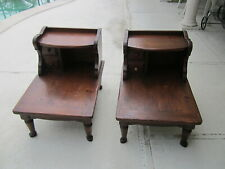 Vintage Wood end Table By Lane   One Drawer   Set of Two Shipping Extra