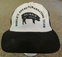 Vintage Trucker Hat - Heinold Hog Markets - snapback, adjustable